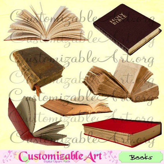 book clipart digital book clip art realistic old open book etsy