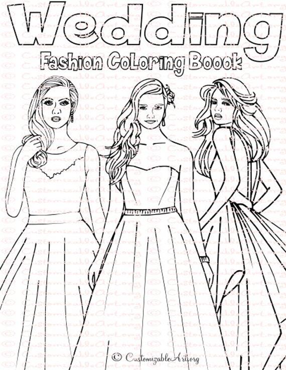 Wedding coloring book bride coloring book wedding coloring