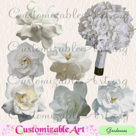 Gardenia clipart digital flower clip art pure white tropical etsy image 0 mightylinksfo