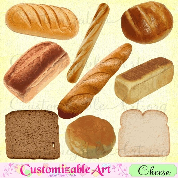 Bread Clipart Digital Clip Art Scrapbook French