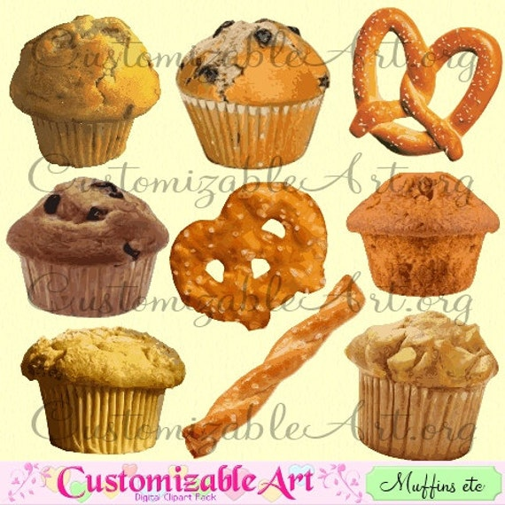 Muffin Clipart Digital Muffin Breakfast Clip Art Images Etsy