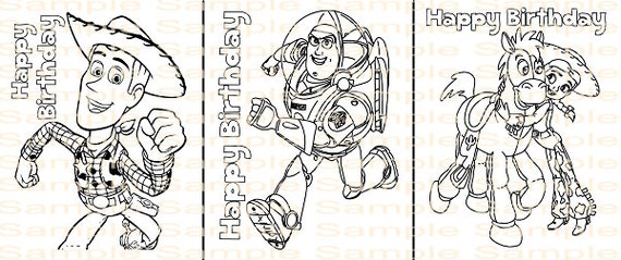 Toy Story Birthday Coloring Page Printable Toy Story Party Etsy