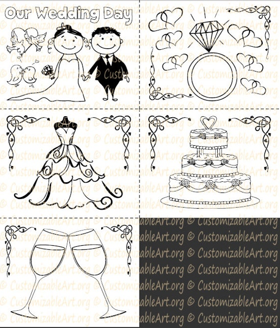 - Wedding Coloring Book Kids Printable Wedding Activity Book Etsy
