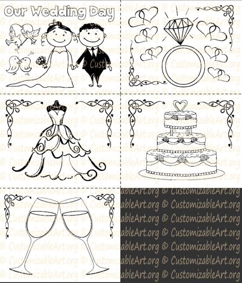 photograph relating to Printable Wedding Coloring Books named Wedding day Coloring Ebook Little ones Printable Wedding ceremony Recreation ebook Childrens Weddings Coloring E-book Weddings Recreation Reserve Immediate Obtain PDF Sale
