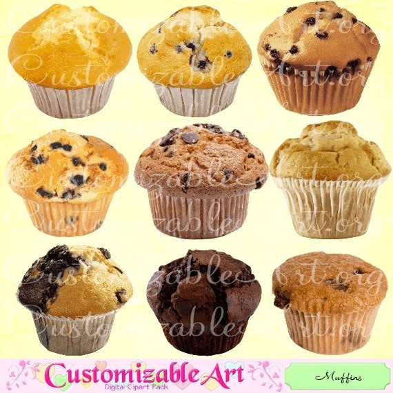 Muffin Clipart Digital Muffin Clip Art Printable Muffins Sweet Etsy