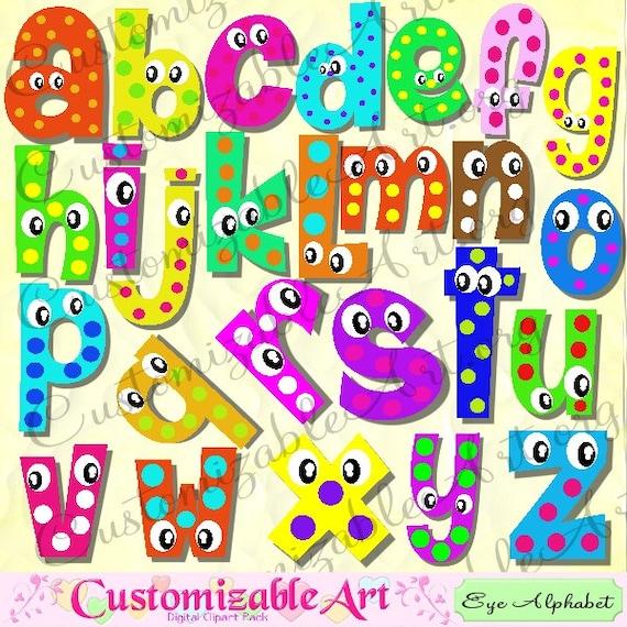 Digital Fun Alphabets Clipart Cute Digital Letters Of The