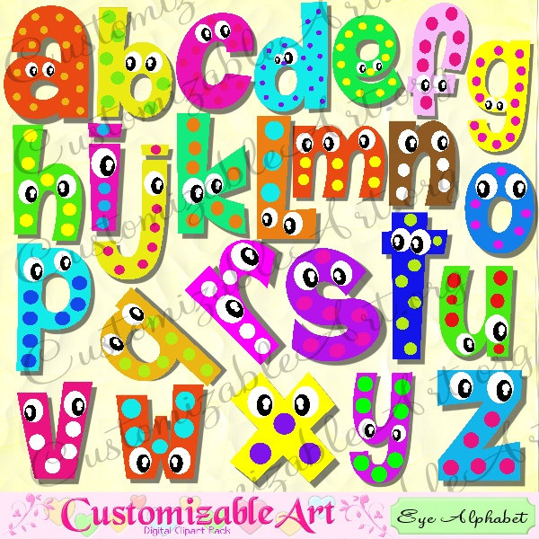 Digital Fun Alphabets Clipart Cute Digital Letters of the ...