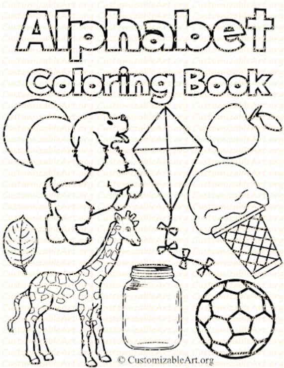 Alphabet Coloring Book Printable Alphabet Coloring Pages Sheets Digital Fun  Learning Letters fo the Alphabet Alphabets Coloring Book A-Z PDF