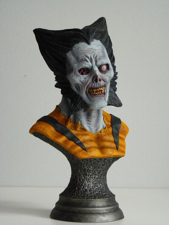 The walking dead resin figure zombie lot Halloween puzzle
