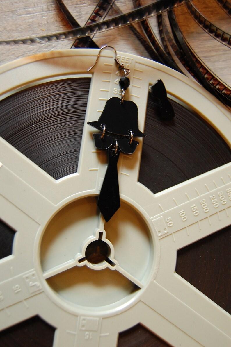 Nero Orecchini Brothers Plexiglass Asimmetrici Lobo Hollywood Musica E Blues Al Laser Pendenti Intagliato Cinema The In 0P8knOXw