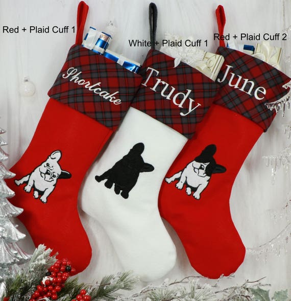 French Bulldog Christmas Stocking.French Bulldog Christmas Stocking Dog Christmas Stocking Stocking Size 8 5 Cuff 12 Foot 20 Tall