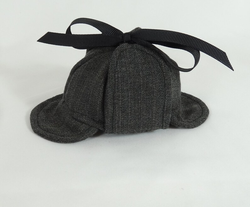 3949d50c737 Sherlock Holmes Deerstalker Houndstooth Hat for small pet