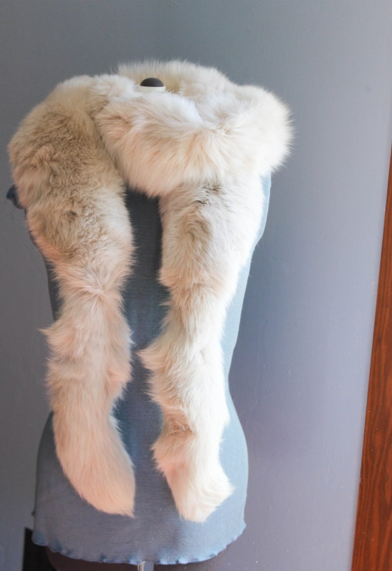 prezzo più basso bello design all'avanguardia dei tempi Vintage Fox Fur Boa - White Fur Scarf - 1950s 60s Style Winter Wedding  Style - Boa Wrap - Stole Shawl Scarf