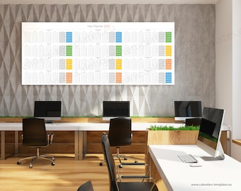 2022 Large Yearly Wall Horizontal Planner - KP-W11-Long color
