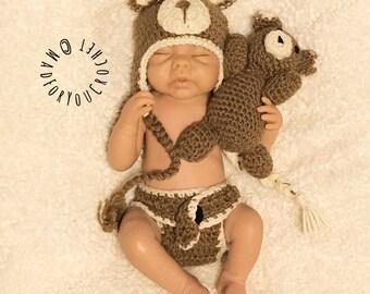 8a48a1009 Crochet Baby Bear/ Bear outfit/ Gender Neutral/ Boy Outfit/ Girl Outfit/  Baby Shower Gift/ Newborn Photo Prop/ Newborn Prop