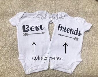 413c76927 Twins Onesie/ Best Friends Shirt/ Best Friends/ Womd Mates/ Personalized  Onesie/ Baby Shower Gift/ Gender Neutral/ Best Friend Onesie Set