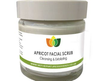 Apricot Face Scrub Natural Cleansing & Exfoliating Aromatherapy Multiple Sizes
