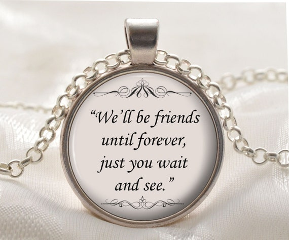winnie the pooh quote pendant friends necklace gift idea