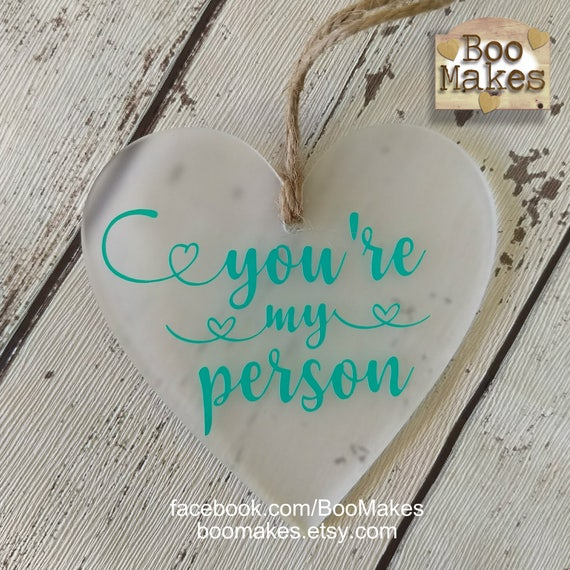 You\'re My Person Grey\'s Anatomy heart decoration   Etsy