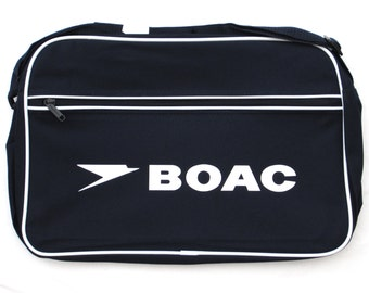 a7dd3909d2 BOAC Airways Airline British Retro Flight Shoulder Bag