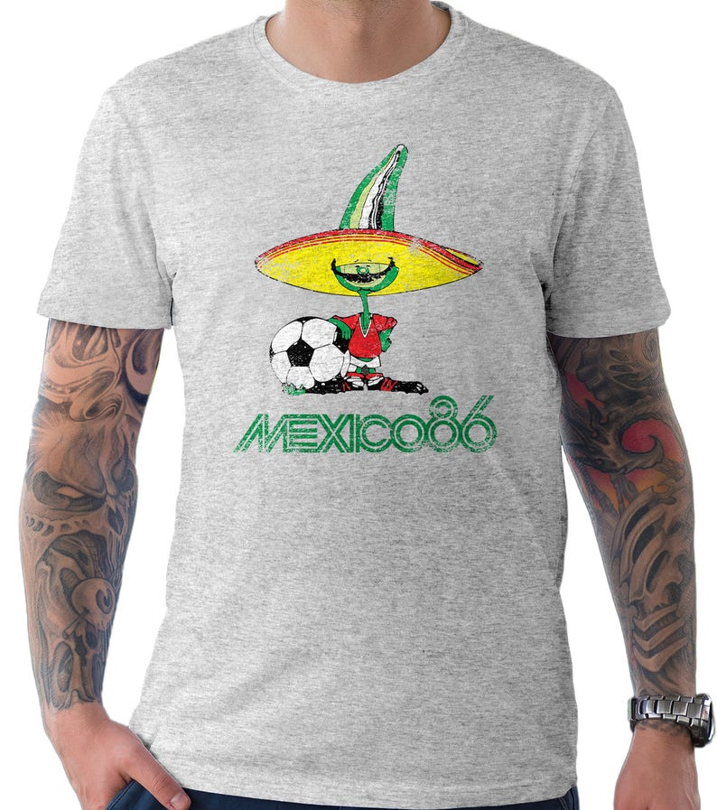 6df065854 Mexico 86 Football World Cup Mascot Pique Soccer Distressed | Etsy