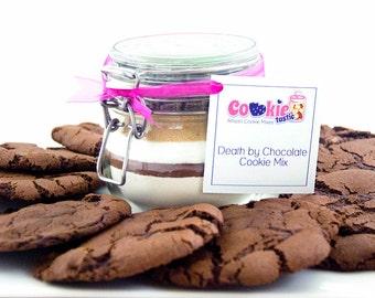 Death by Chocolate Cookie Mix Jar - Gluten Free - Birthday Gift - Stocking Filler - Secret Santa - Christmas Gift - Isolation