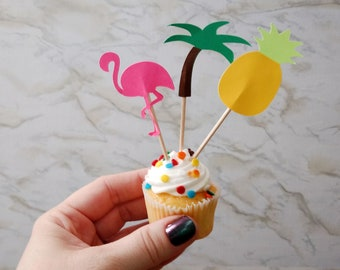 Tropic Like It's Hot Tropical Food Flag/Cupcake Topper