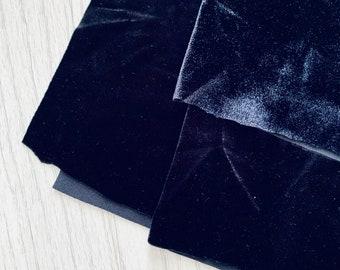 Black Stretch Velvet/Velour Fabric, velvet dance fabric