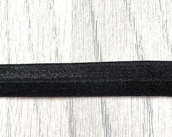 Black Foldover Elastic | Lingerie Elastic