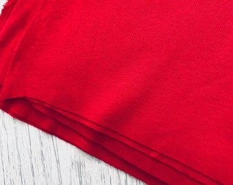 Red Jersey Knit Fabric - one piece, bright red jersey fabric