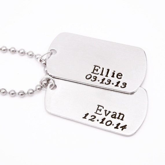Personalized Gift For Dad Men Kids Name Necklace