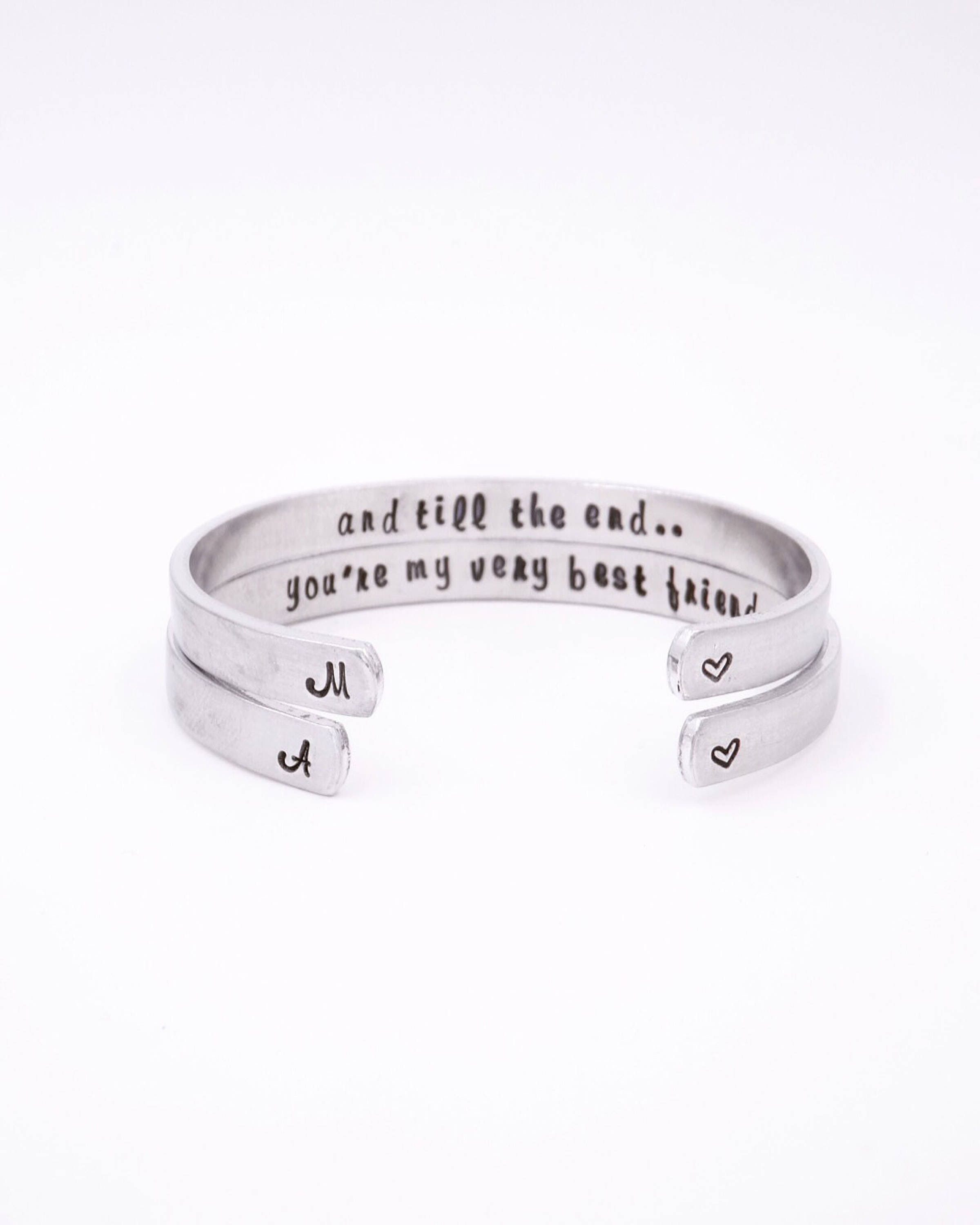 9d7ad6df6ae87 Matching best friend bracelet - Youre my very best friend - Gifts for best  friend - Best friend gift - Best friend intial bracelet
