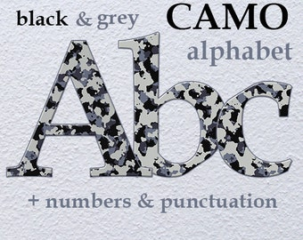 camouflage alphabet clipart printable camo letters army etsy