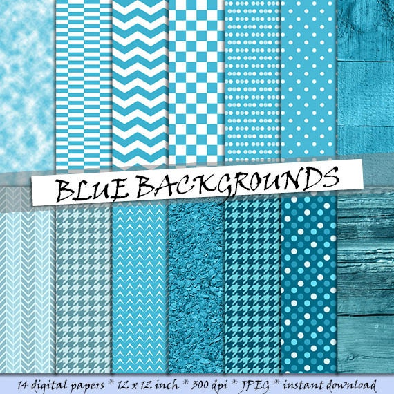 Scrapbooking Paper Party Kids Blue Digital Paper Blue Backgrounds Grunge Pattern Instant Download Digital Paper Pack 12 Printable Patterns Instant Download Coda6 Paper Craft Supplies Tools
