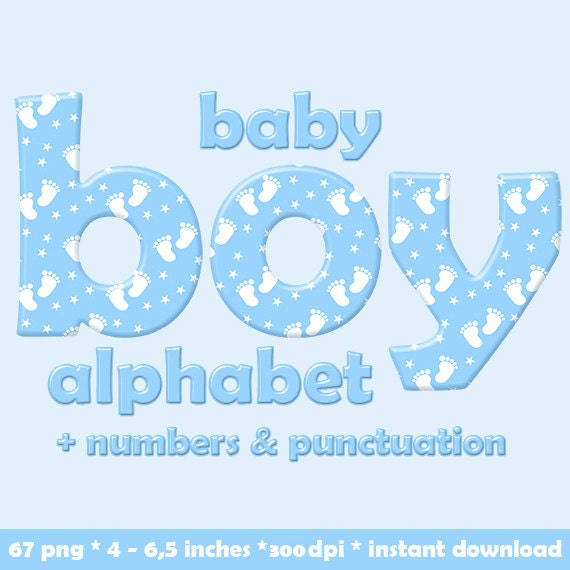 blue baby boy alphabet clipart baby feet pattern children etsy