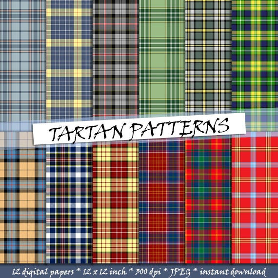 green and red tartan plaid backgrounds; for commercial use Mint and coral tartan pattern digital paper seamless scottish plaid patterns