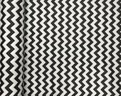 Black Classic Chevron Print Fabric 100 Cotton 91 92 quot Wide By The Yard