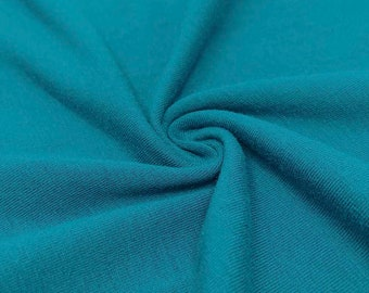 e92901df042 Teal Cotton Jersey Lycra Spandex Knit Stretch Fabric 58/60