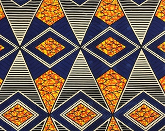 African Print Fabric Cotton Print 44'' wide By The Yard (185160-2)