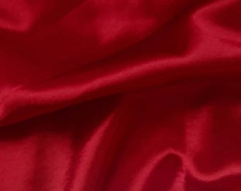 Dark Red Crepe Back Satin Bridal Fabric for wedding dresses, decorations, drapes, crafts crepeback by the yard