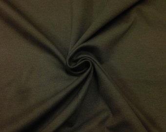 "Ponte De Roma Stretch Knit Fabric Rayon Nylon Spandex Olive Green 60"" Super Soft By the Yard"
