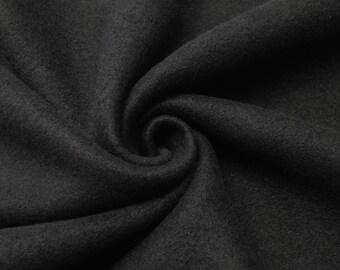 "Black Solid Polar Fleece Fabric Anti-Pill 60"" Wide By the Yard"