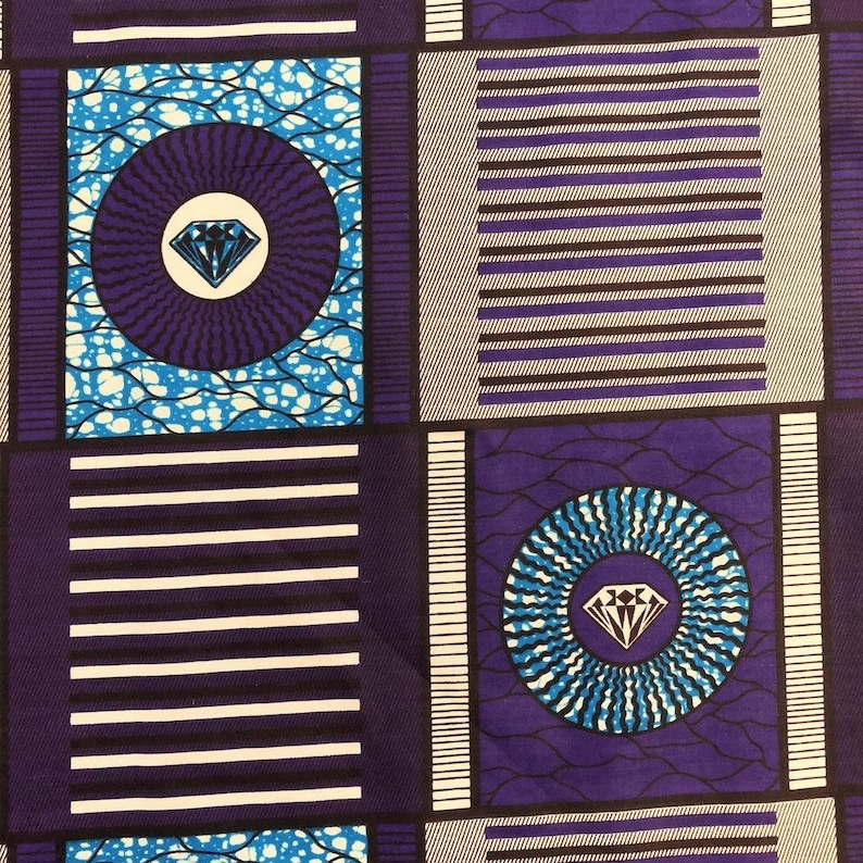 African Print Fabric Cotton Print 44/'/' wide By The Yard 90230-1