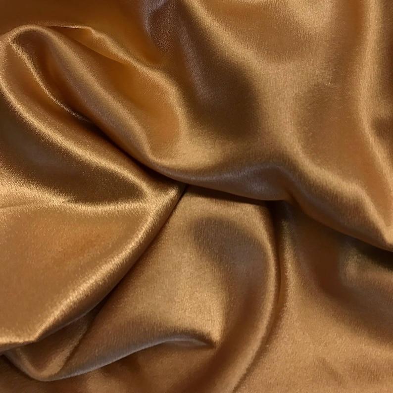 ebac9439af35a Mist Gold Crepe Back Satin Bridal Fabric for wedding dresses | Etsy