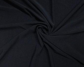 "Navy ITY Fabric Polyester Knit Jersey 2 way Spandex Stretch 58/60"" BTY"