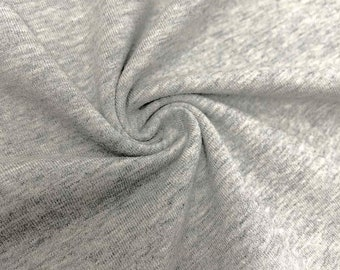 """Heather Grey Cotton Jersey Spandex Knit Stretch Fabric 58/60"""" wide All colors"""