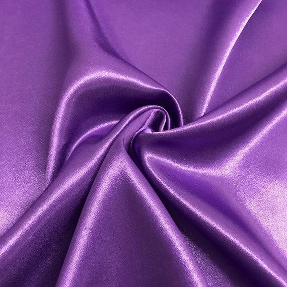 Disfraz de tela de satén de poliéster púrpura Cortina De Boda Decoración Tela Crepe