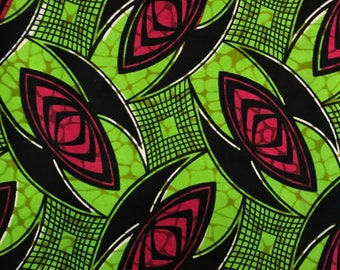 African Print Fabric Cotton Print 44'' wide By The Yard (185166-2)