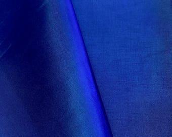 "Royal Blue Polyester Lining Fabric Silk Habutae 60"" Wide Habotai Habutai By The Yard"
