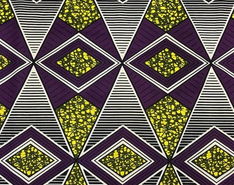 African Print Fabric Cotton Print 44'' wide By The Yard (185160-4)